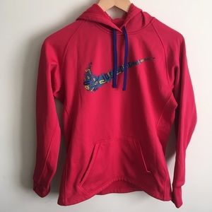 Nike   Hot Pink Swoosh Therma-Fit Hoodie Small